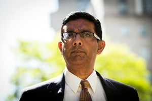 Conservative commentator and best-selling author, Dinesh D'Souza exits the Manhattan Federal Courthouse after pleading guilty in New York