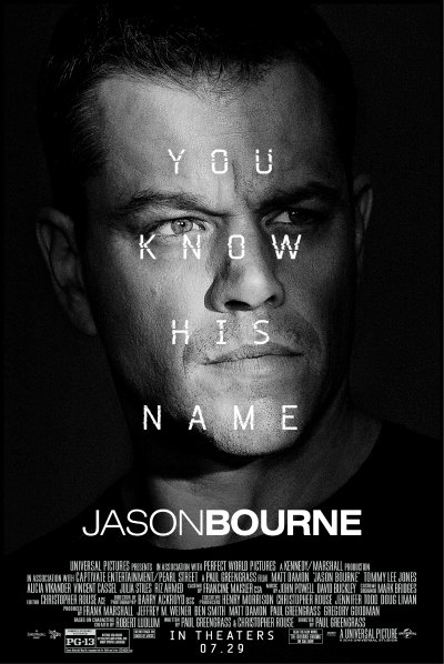 Image result for jason bourne movie poster